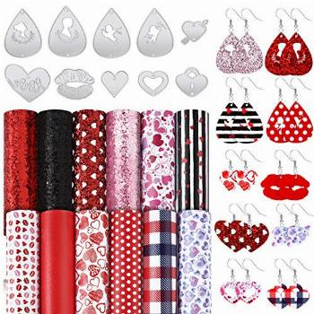 22 Pieces Valentine's Day Earring Cutting Dies Metal