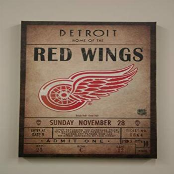 Artissimo Detroit Red Wings NHL Licensed Classic Ticket