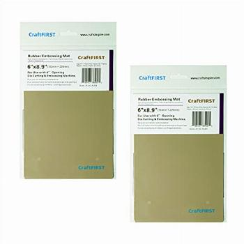 CraftFIRST Rubber Embossing Mat, 2 Pack, Compatible with