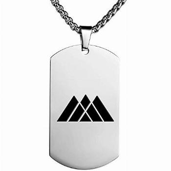 Destiny 2 Game Couple Stainless Steel Dog Tag Necklace