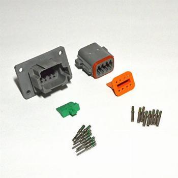 Deutsch 8-pin 14-16AWG Flange Connector Kit Solid Contacts